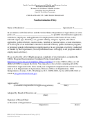 Child And Adult Care Food Program Nondiscrimination Policy Form - North Carolina Department Of Health And Human Services