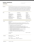 Mark Andrews Sales Assistant Template