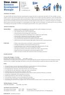 Steve Jones Business Development Manager Template