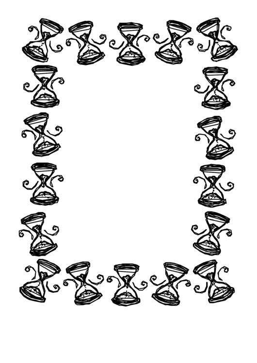 Coloring Sheet - Hourglass