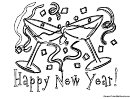 Coloring Sheet - Happy New Year