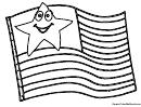 Coloring Sheet - Usa Flag