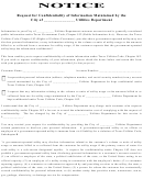 Request For Confidentiality Of Information Form