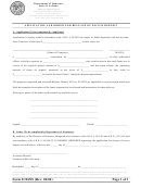 Form E126xs - Application And Order For Release Of Excess Deposit - 2004