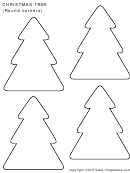 Round-cornered Christmas Tree Template