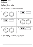 Half An Hour Later - Challenge Worksheet With Answer Key