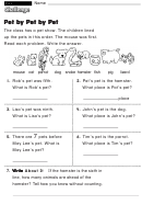 Pet By Pet By Pet - Challenge Worksheet With Answer Key