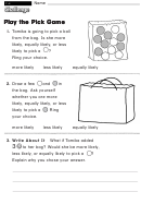 Play The Pick Game - Challenge Math Worksheet With Answer Key