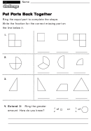 Put Parts Back Together - Challenge Worksheet With Answer Key