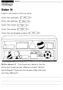 Color It - Challenge Worksheet With Answer Key