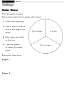 Ruler Race - Challenge Worksheet With Answer Key