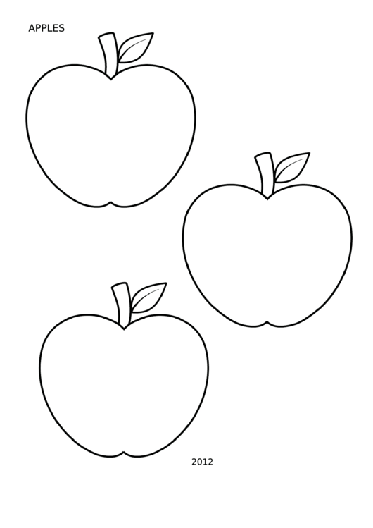 Coloring Sheet - Apples