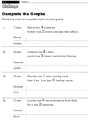 Complete The Graphs - Challenge Worksheet With Answer Key