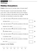 Riddles Everywhere - Challenge Worksheet With Answer Key