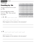 Counting By 10s Worksheet With Answer Key