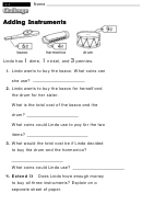 Adding Instruments - Challenge Worksheet With Answer Key