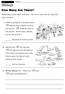 How Many Are There - Challenge Worksheet With Answer Key