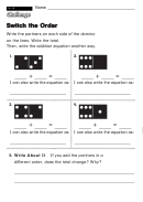 Switch The Order - Challenge Worksheet With Answer Key