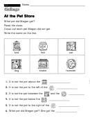 At The Pet Store - Challenge Worksheet With Answer Key