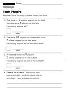Team Players - Challenge Worksheet With Answer Key