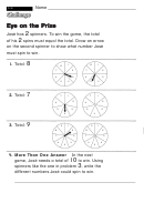 Eye On The Prize - Challenge Worksheet With Answer Key