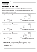 Counters In The Cup - Challenge Worksheet With Answer Key