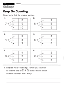 Keep On Counting - Challenge Worksheet With Answer Key