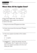 Where Have All The Apples Gone - Challenge Worksheet With Answer Key