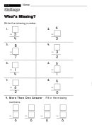 What's Missing - Challenge Worksheet With Answer Key