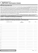 Form Rut-25-e - Fleet Exemption Schedule - Illinois printable pdf ...