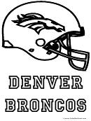 Denver Broncos Coloring Page