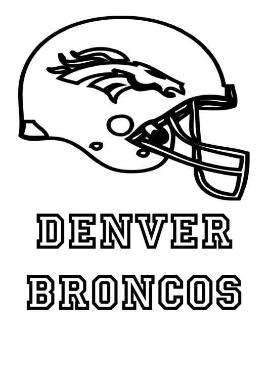Denver Broncos Coloring Page Printable Pdf Download