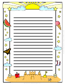 Preschool Writing Paper Template