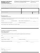 Form Hud-203b - Damaged Label Report Ipia/manufacturer - U.s. Department Of Housing And Urban Development