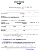 Alcohol Distance Appeal Application Form December 2012