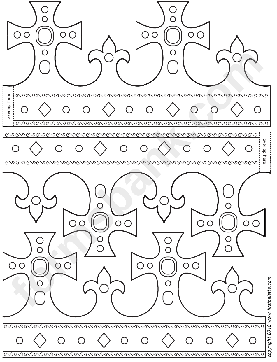 fpldable king crown template printable pdf download