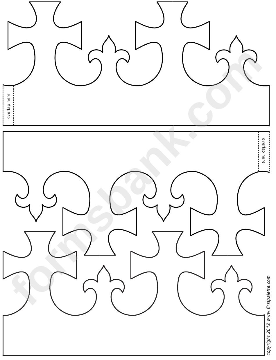 foldable king crown template printable pdf download