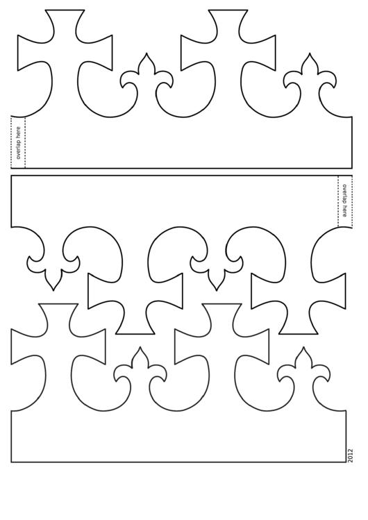Foldable King Crown Template Printable pdf