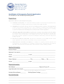 Certificate Of Occupancy Application Form