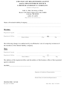 Change Of Registered Agent And/or Registered Office Limited Liability Company Form - Secretary Of State - Nebraska