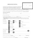 Order For Testing Form