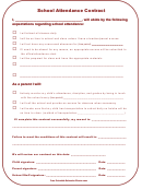 School Attendance Contract Template