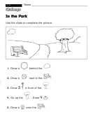 In The Park - Challenge Worksheet With Answer Key