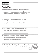 Picnic Fun - Challenge Worksheet With Answer Key