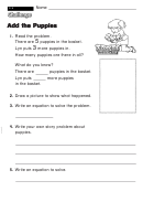 Add The Puppies - Challenge Worksheet With Answer Key