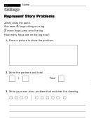 Represent Story Problems - Challenge Worksheet With Answer Key