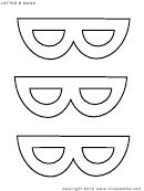 Letter B Mask Template