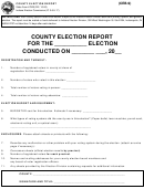 State Form 47923 - County Election Report