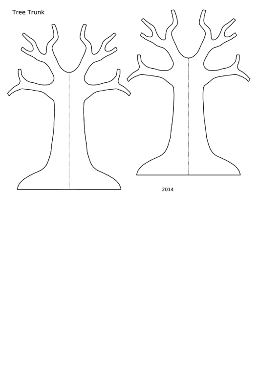 Template - Small Tree Trunk With Flat Base
