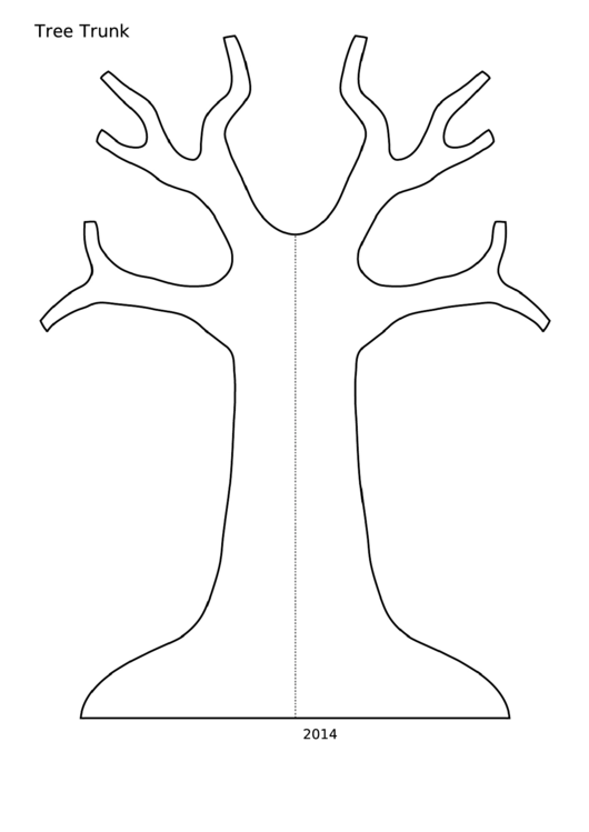 Template - Tree Trunk With Flat Base
